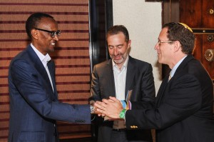 Pres Kagame Yosef and Saul Singer